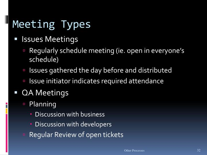 Meeting Types