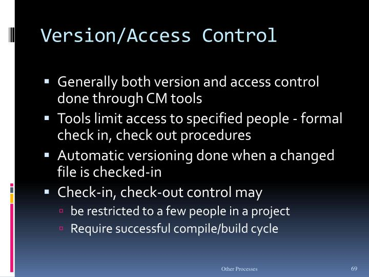 Version/Access Control