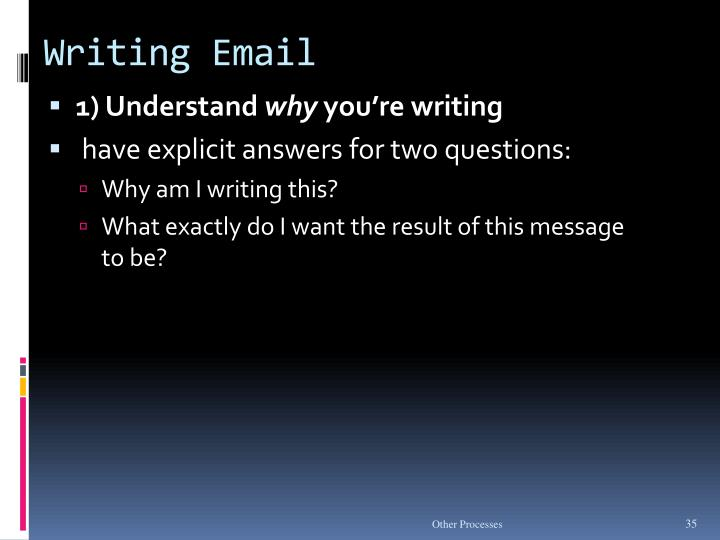 Writing Email