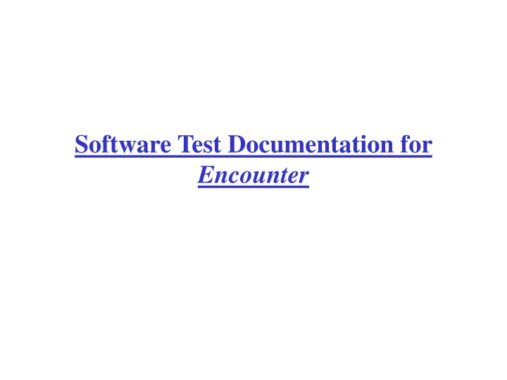 Software Test Documentation for