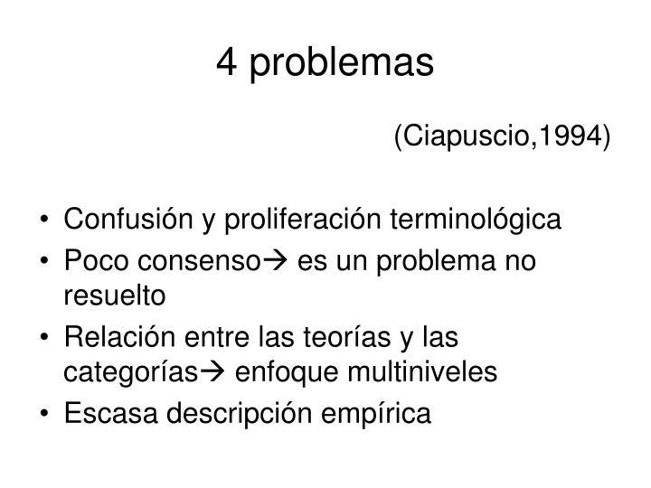 4 problemas