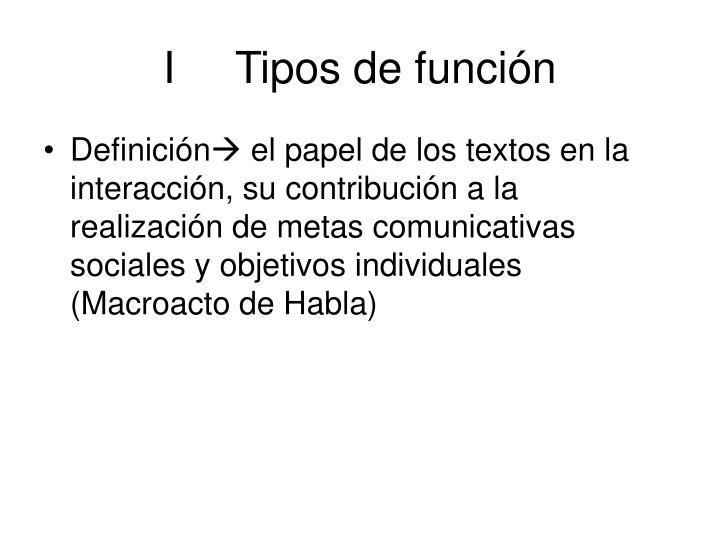 ITipos de función