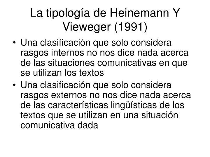 La tipología de Heinemann Y Vieweger (1991)