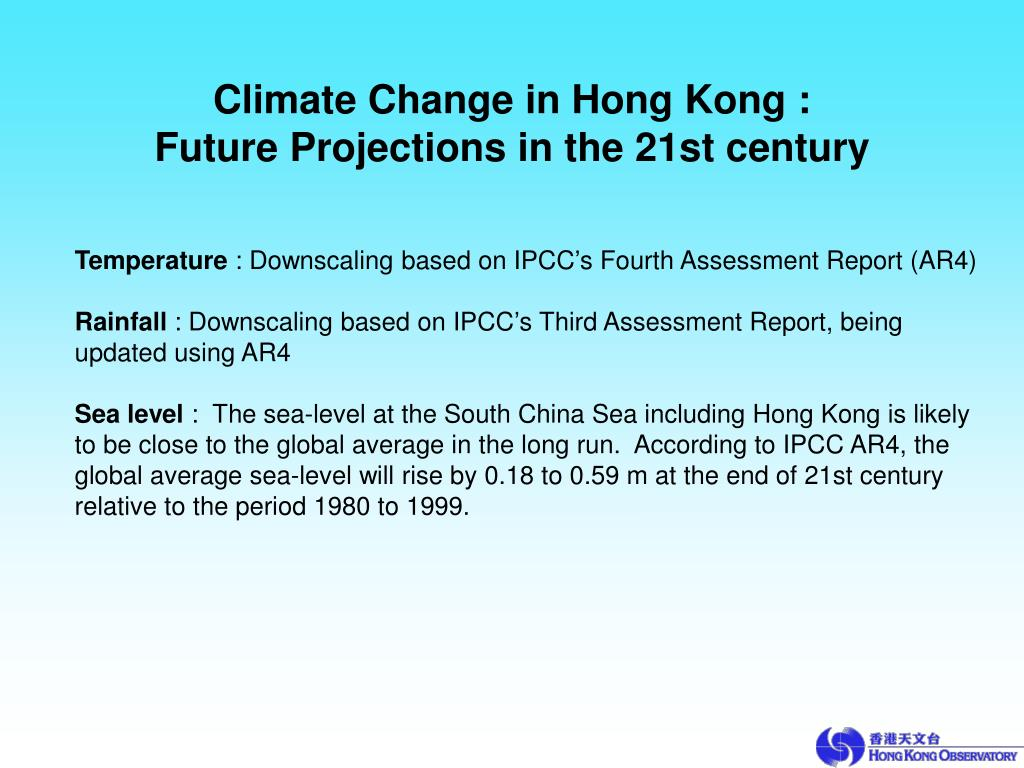 Climate Change in Hong Kong :