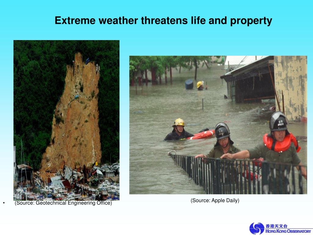 Extreme weather threatens life and property