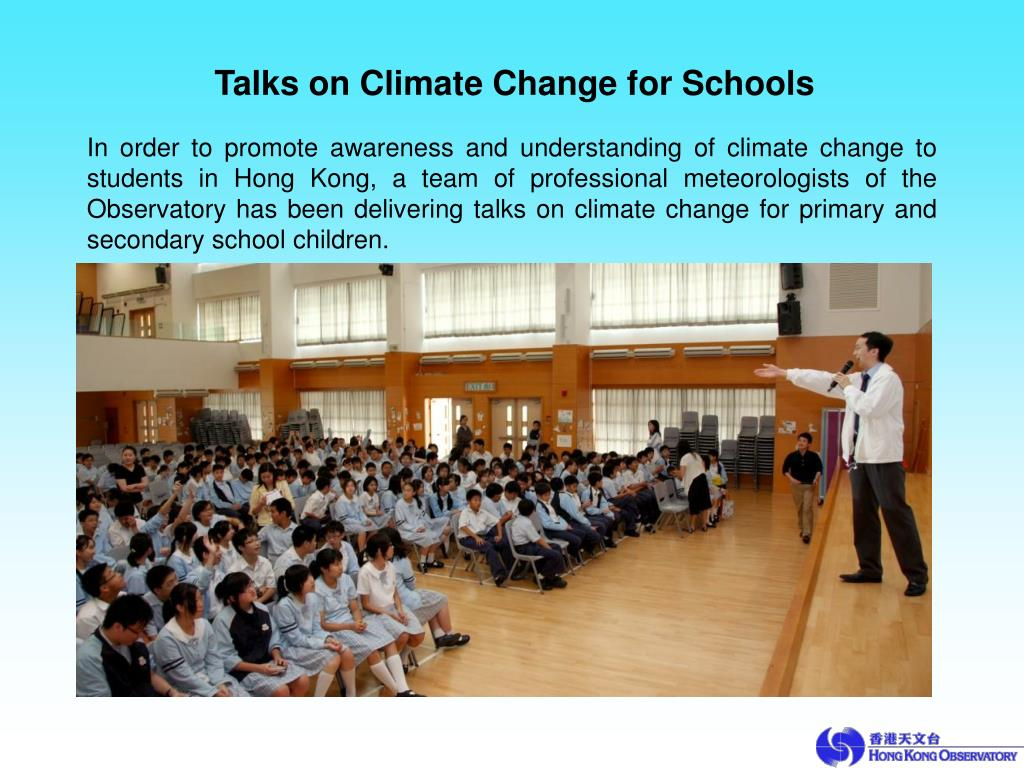 Talks on Climate Change for Schools