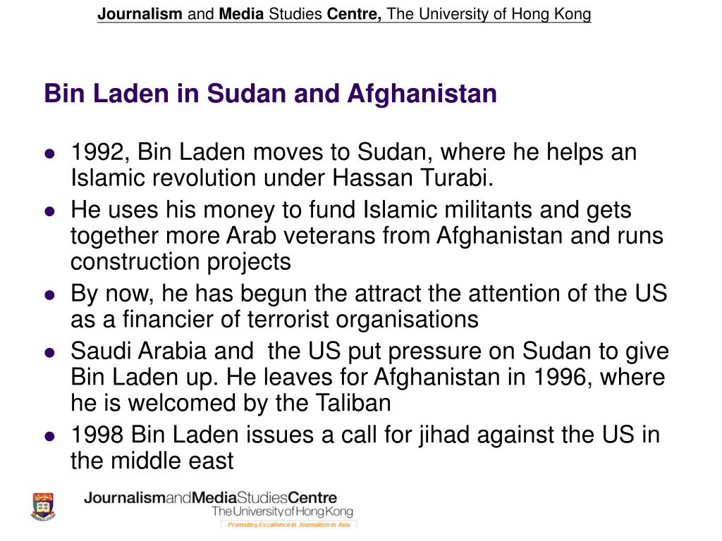 Bin Laden in Sudan and Afghanistan