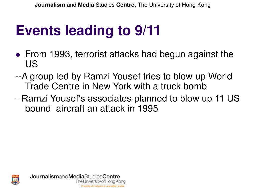 Events leading to 9/11