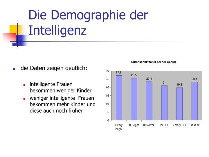 Die Demographie der Intelligenz