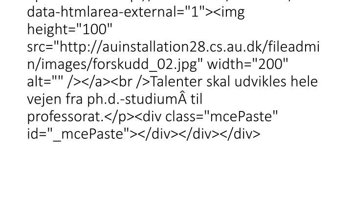 """<div class=""""mdd_column""""><div id=""""c13758"""" class=""""csc-default"""" class=""""csc-default""""><h3><strong>TALENTUDVIKLING</strong> PÃ… AARHUS"""