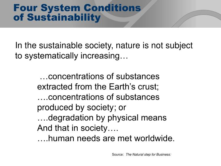 Four System Conditions