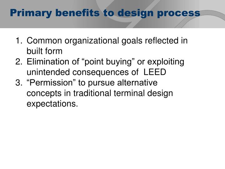 Common organizational goals reflected in built form