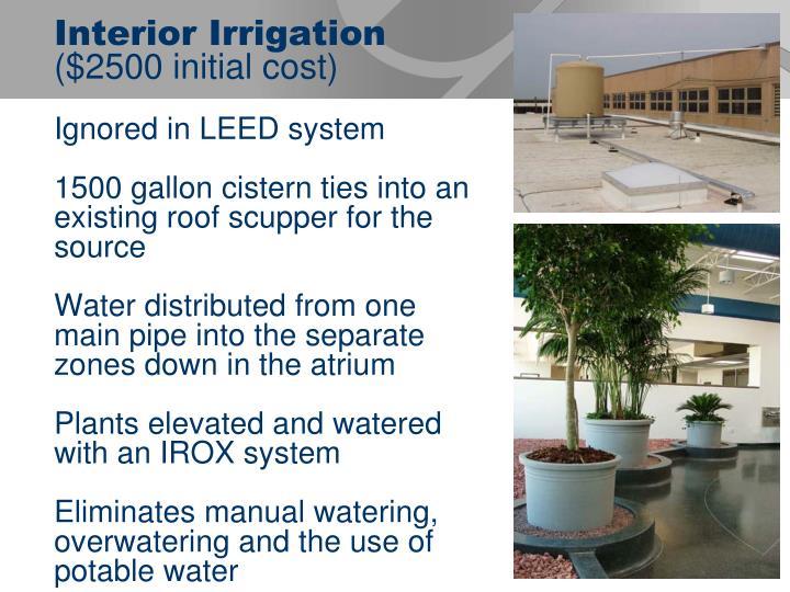 Interior Irrigation