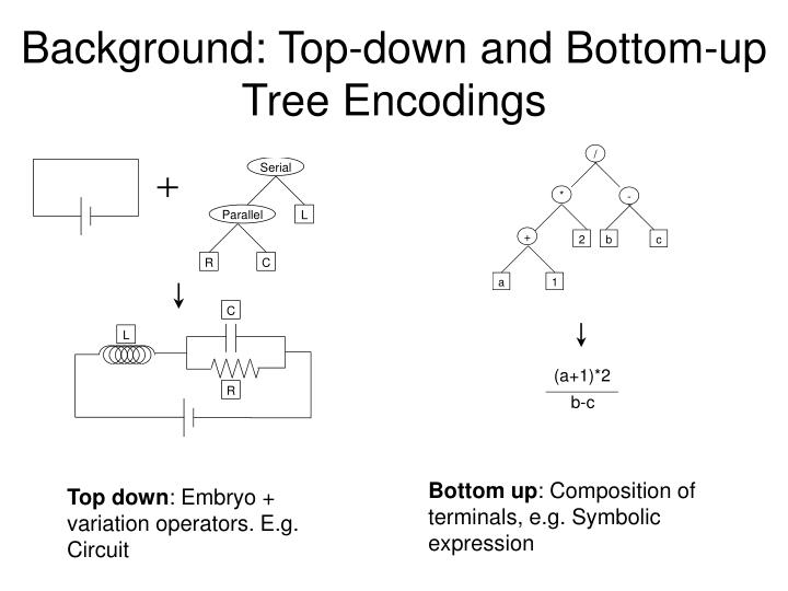 Background: Top-down and Bottom-up Tree Encodings