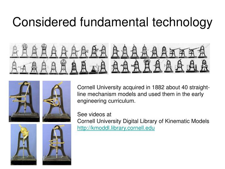 Considered fundamental technology