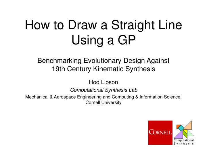 How to draw a straight line using a gp
