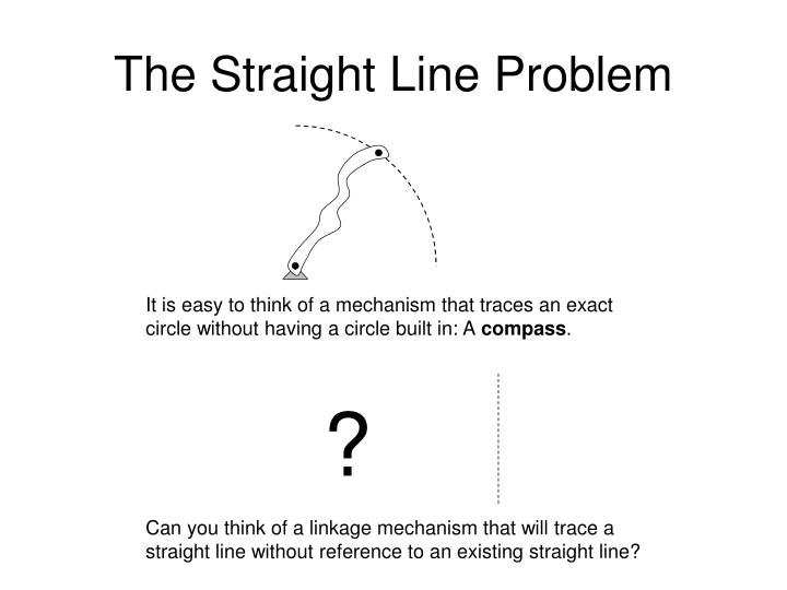 The Straight Line Problem