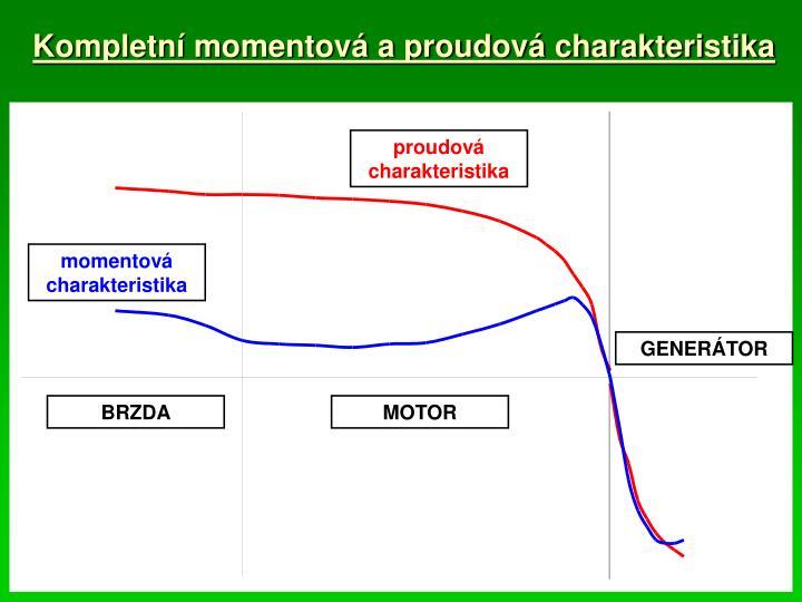 Kompletní momentová a proudová charakteristika