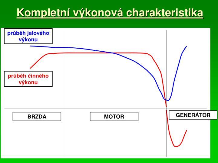 Kompletní výkonová charakteristika