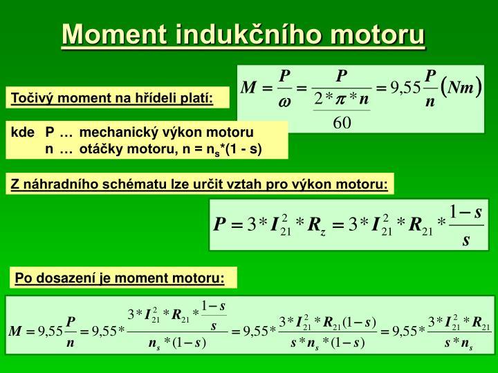 Moment indukčního motoru