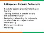 1 corporate colleges partnership