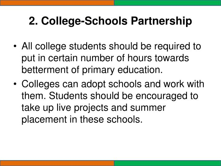 2. College-Schools Partnership