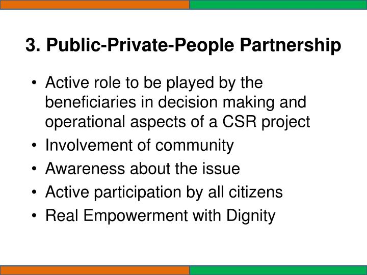3. Public-Private-People Partnership