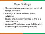 main findings1