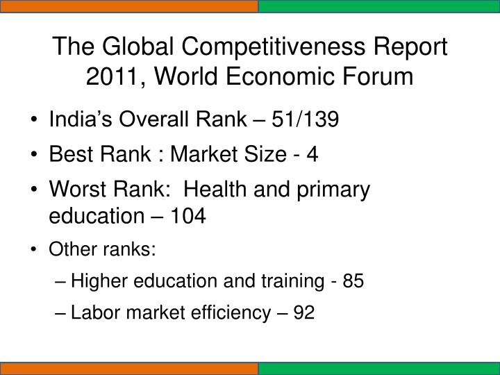 The Global Competitiveness Report 2011, World Economic Forum