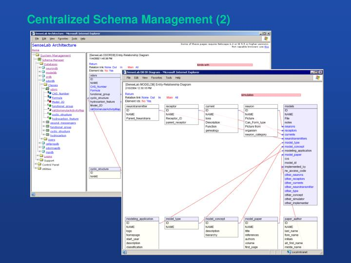 Centralized Schema Management (2)