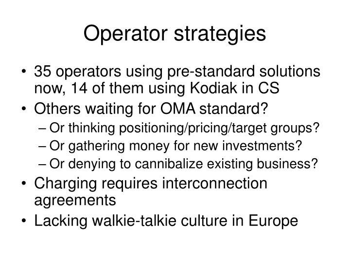 Operator strategies