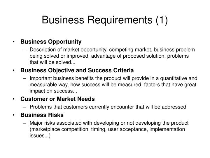 Business Requirements (1)