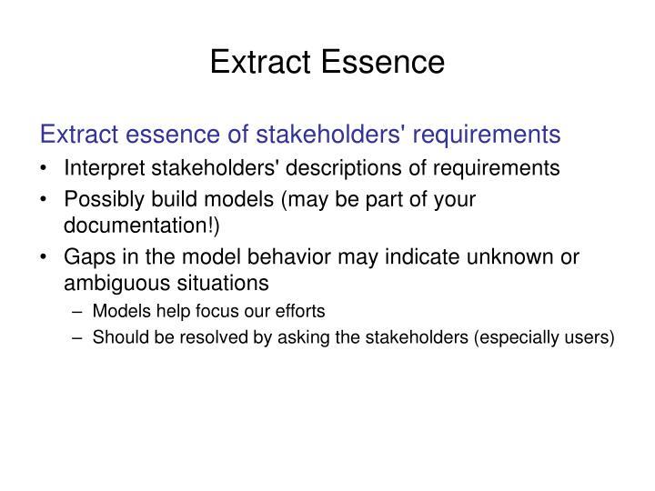 Extract Essence