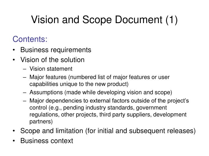 Vision and Scope Document (1)