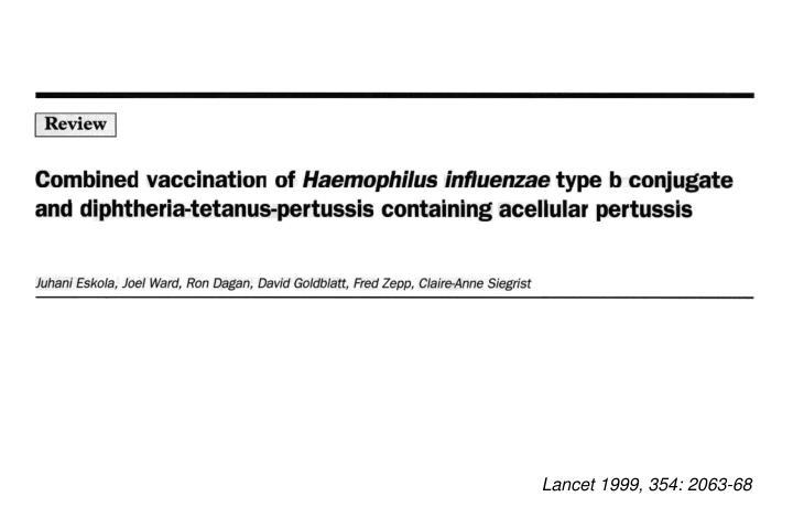 Lancet 1999, 354: 2063-68