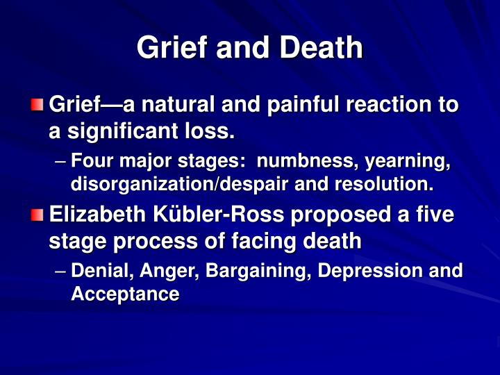 Grief and Death