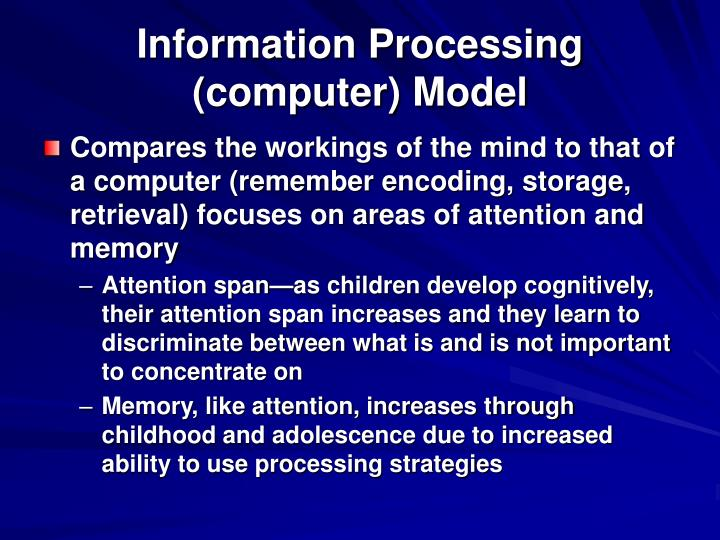 Information Processing (computer) Model