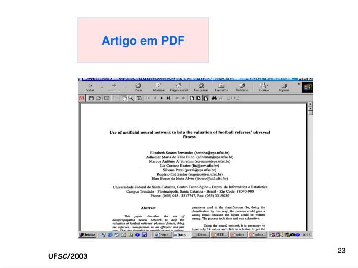 Artigo em PDF