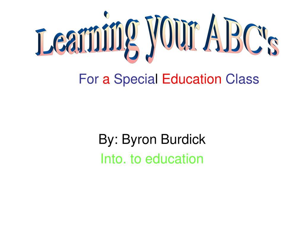 by byron burdick into to education