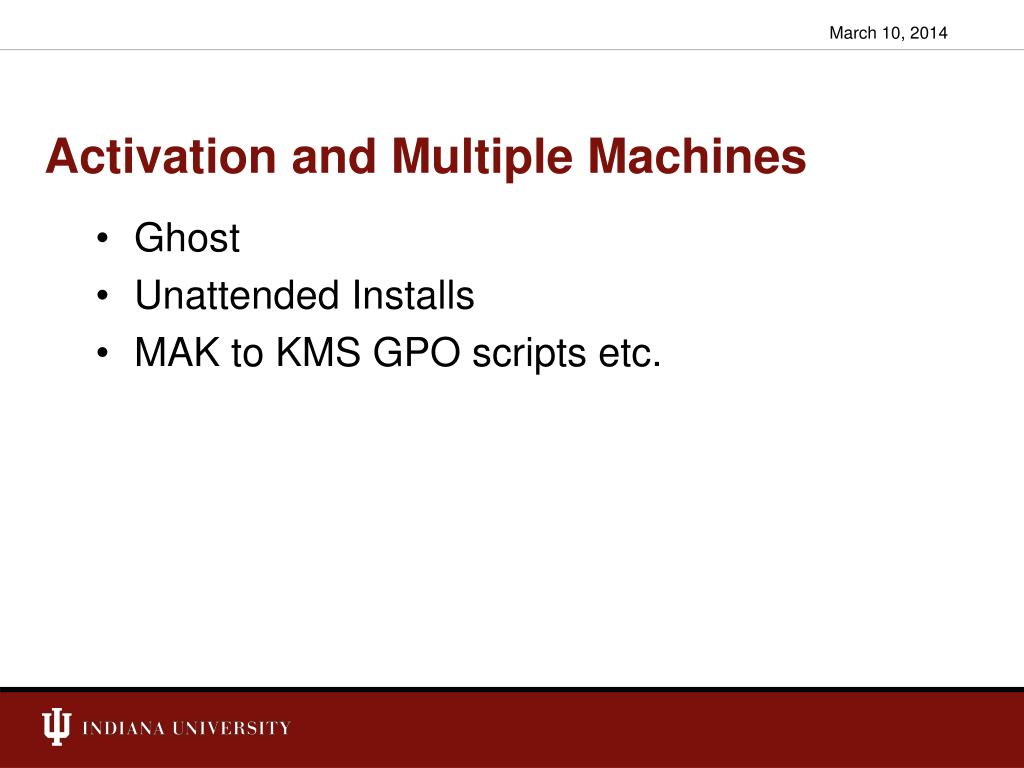 Activation and Multiple Machines