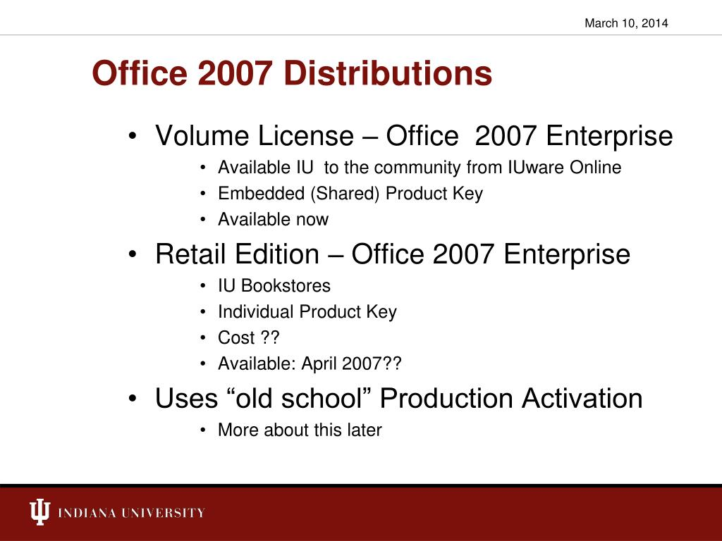Office 2007 Distributions