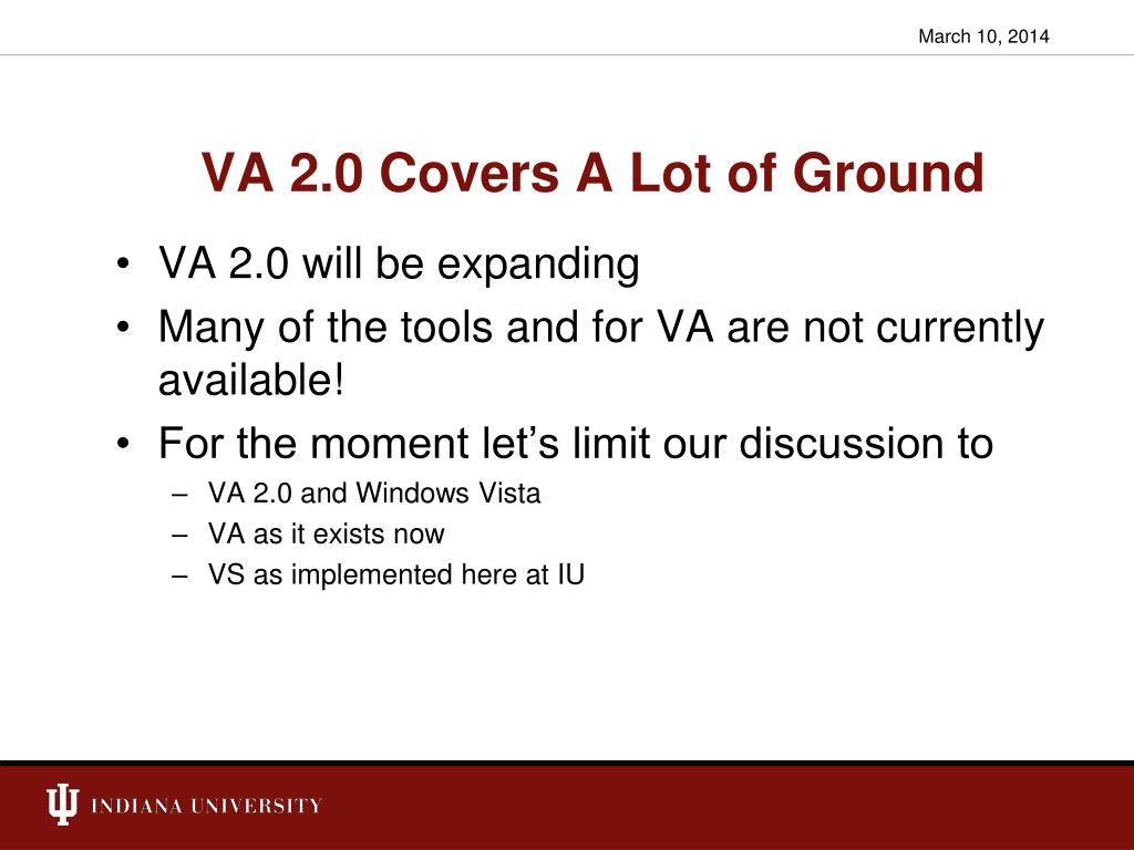 VA 2.0 Covers A Lot of Ground