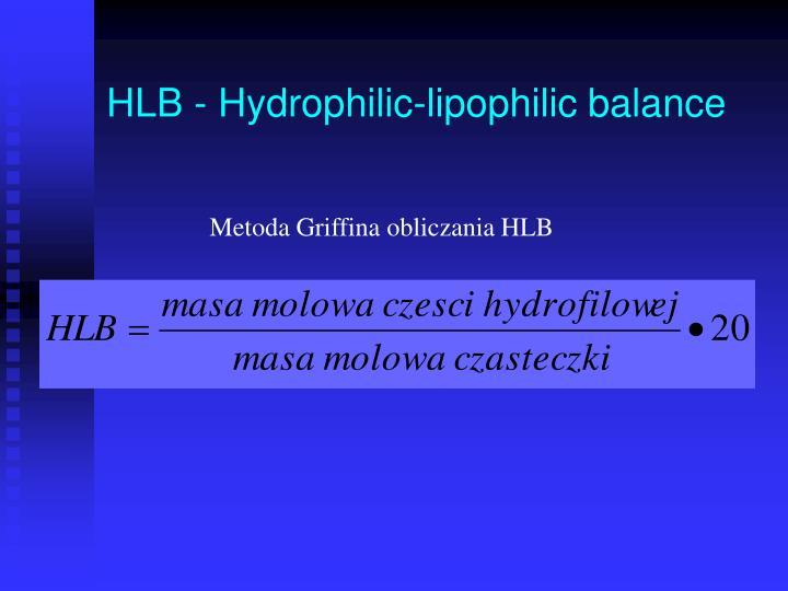 HLB - Hydrophilic-lipophilic balance
