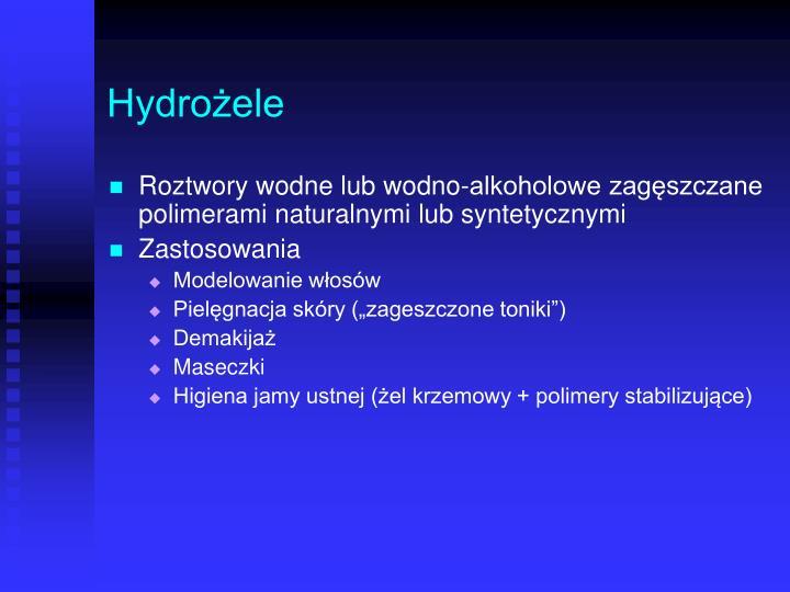 Hydrożele
