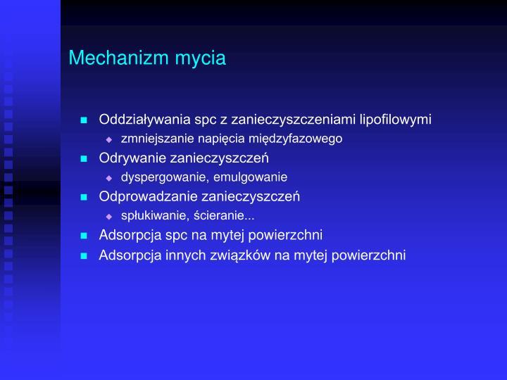Mechanizm mycia