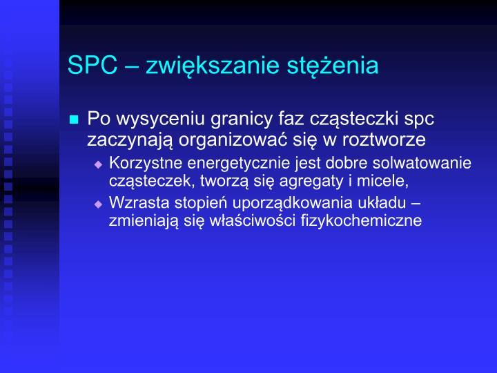 SPC – zwiększanie stężenia