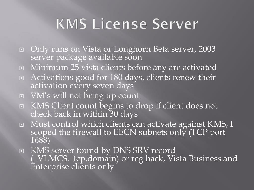 KMS License Server