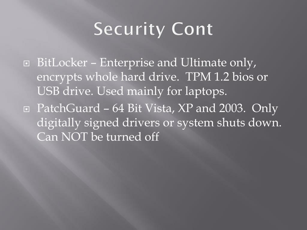 Security Cont