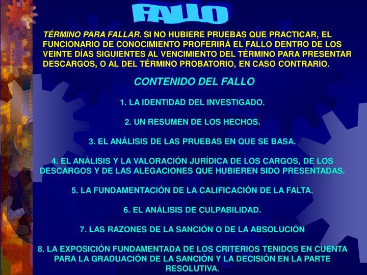 FALLO