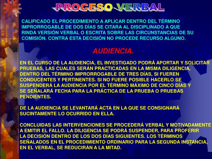 PROCESO VERBAL